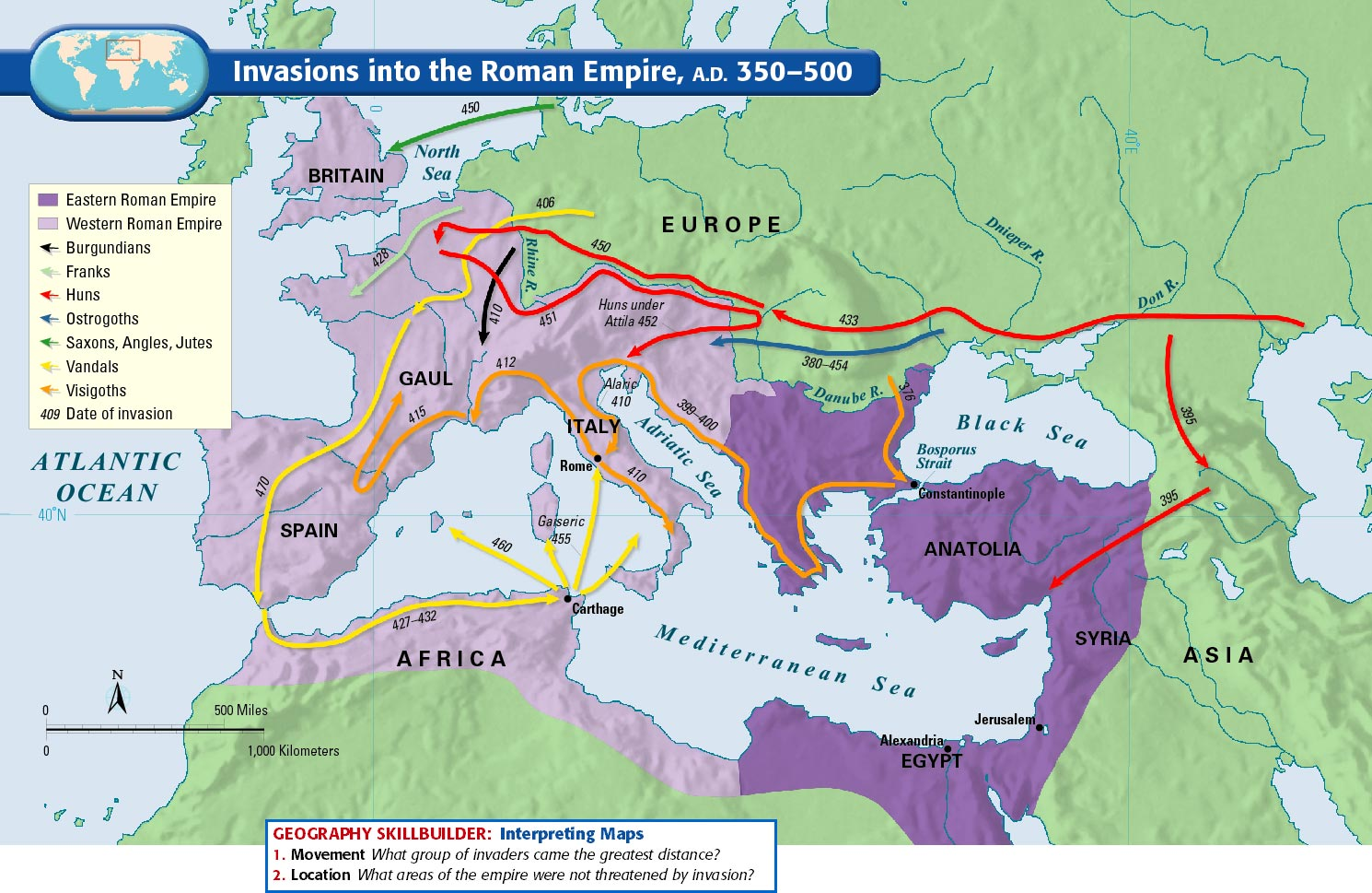worksheet Byzantine Empire Map Worksheet mr es world history page middle ages ppt assignment december 10 roman empire invasions map