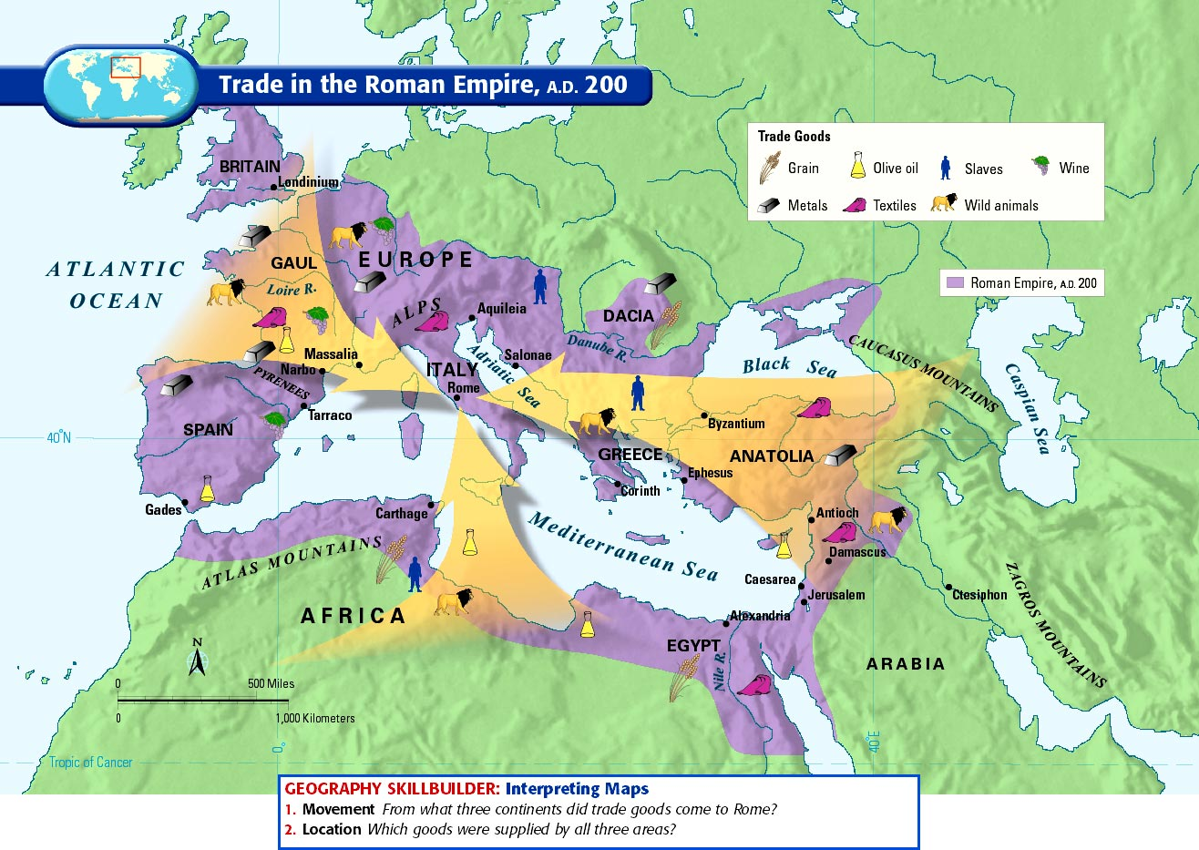 Roman Empire Timeline Map Roman Empire Trade Map